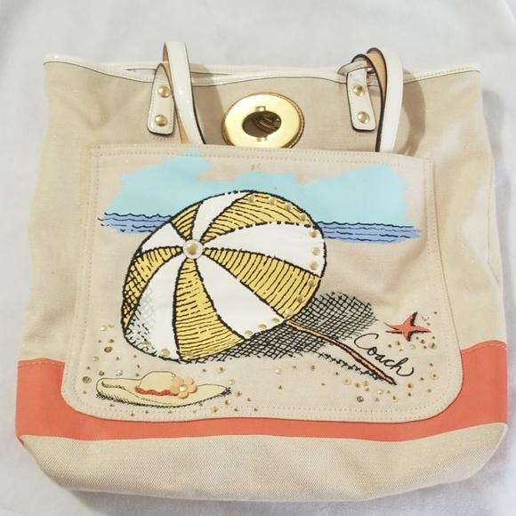 Coach Handbags - Beach Tote Large Coach